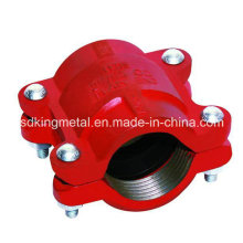 Ductile Iron 300psi NPT Threaded Grooved HDPE Coupling