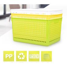 Cesta de frutas de plástico multiuso tamanho grande eco-friendly de armazenamento para atacado