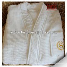 hotel waffle style 100% cotton kimono robe