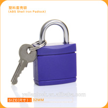 Porta de madeira ABS Shell Ferro cadeado Cor azul Tampa de plástico brady segurança padlock