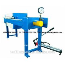 Prensa de filtro Leo pequeña prensa de filtro 500 de tamaño de placa para tratamiento de aguas residuales