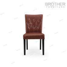 Silla para banquetes con patas de madera de abedul, sillas para comedor con respaldo alto