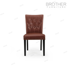 Chaise de banquet de jambes de bois de bouleau haut dossier dinning chaises tissu