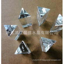 Fabricant En Gros Cristal Triangle Colonne Presse-Papier En Verre Pendentif