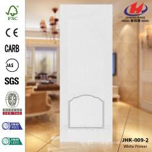 JHK-009-2 Best Sell 2016 Revolving Design délicat Réparation intérieur HDF moulé White Primer Door Skin