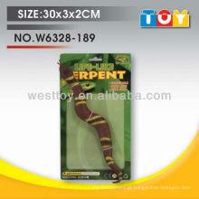 2017 novos itens de crianças de chegada brinquedo de serpente de borracha de duas cores com característica de plasticidade