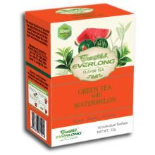 Melancia aromatizado chá verde pirâmide chá saco superior mistura orgânica e compatível com a UE (ftb1501)