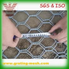 Galvanisierter Gabionen-Kasten / sechseckiger Maschendraht / Metall Gabion-Masche