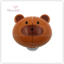 5.8 * 5.2 * 3cm Accesorios de baño Soporte de cepillo de dientes de montaje en pared en forma de oso con ventosas