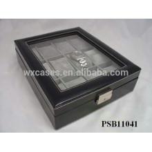 leather watch storage box for 12 watches wholesale PSB11041