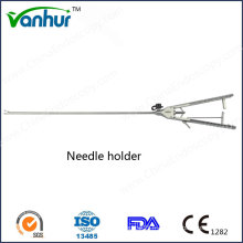 Hf2008.2 Porte-aiguille laparoscopique avec poignée Rachet