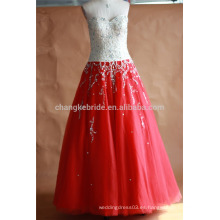 Precioso rojo Quinceanera vestidos 2016 Masquerade Ball Gowns Puffy totalmente rebordear cristales corsé Sparkly Sweet 16