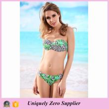2016 Novo Design Sexy Leopard Imprimir Dois Piece Set Tankinis Bikini