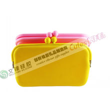 Newest Charm Silicone Purse Design With Stainless Steel,silicone Eyeglass Bag Manufacturer