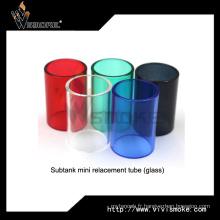 Tube de remplacement coloré en verre Tube de verre de remplacement sous tube de remplacement