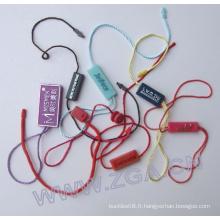 Bande d'étanchéité en plastique, matériau d'emballage, étiquette de suspension, pour tissu