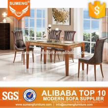 простой дизайн, высокого класса мебель классический твердый деревянный обеденный стол наборы