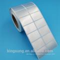 etiqueta de la etiqueta engomada imprimible impermeable de la estera del precio bajo de la estera