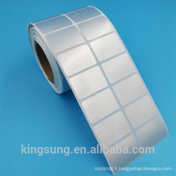 Étiquette autocollante imprimable imperméable à l'eau de tapis de prix bas