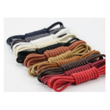 Promotional Wax Round Shoelaces, Waterproof Leather Shoeslace 0.25 Cm
