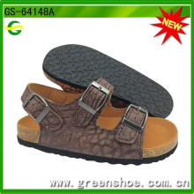 Sandálias novas da chegada da cortiça das crianças para o verão (GS-64147)