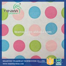 Fourniture de PET recyclé (RPET) Tissu non tissé à motifs pour sacs