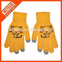 Venta al por mayor de alta calidad acrílico personalizado toque sensibles guantes