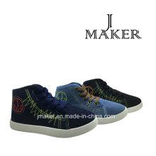 Fabricação de sapatos de lona em branco clássico para crianças (JM2078-B)
