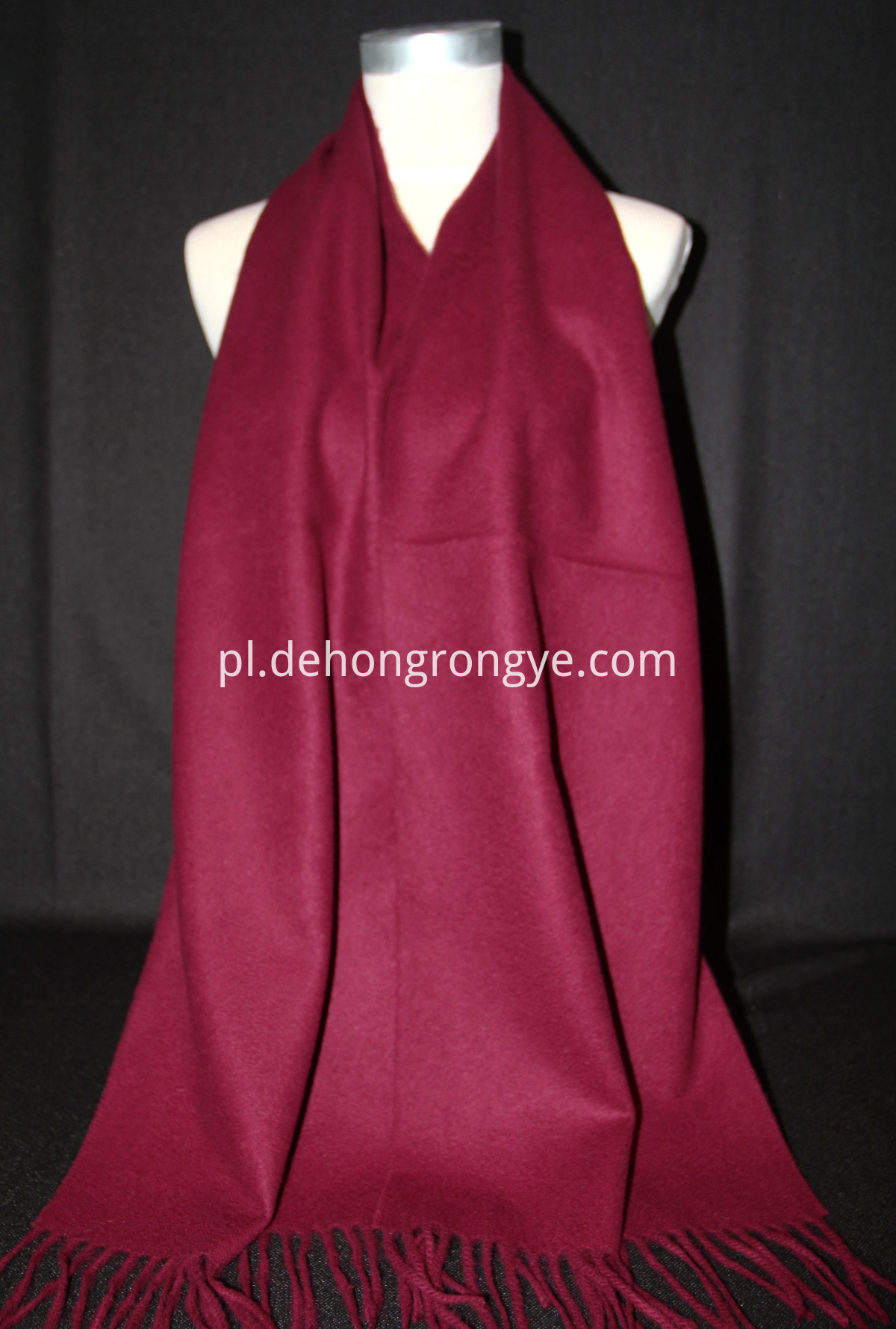 Wine Red Cashmere Scarf