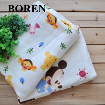 Tissu 100% coton en fil imprimé doux et confortable pour tissu bébé et écharpe
