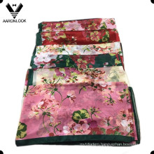 High Quality Colorful Flower Famous G20 Hangzhou Women Silk Scarf