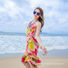Wonderful stylish bali sarong cover up chiffon scarf colorful beach pareo