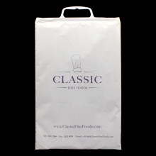Milk white Plastic Handle Bag