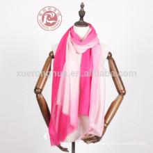 bufandas hechas a mano de lana fina como bufanda de seda