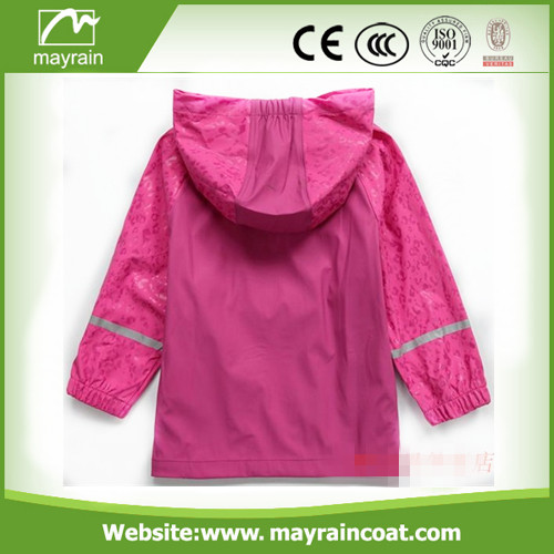 Pink PU Kids Raincoat