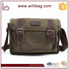 Hochwertige Freizeit Umhängetasche für Männer Canvas Messenger Bag