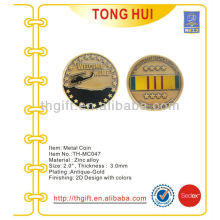 Helicopter logo with Army design Metal Commemorative coin,souvenir coin