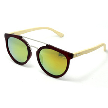 Bamboo Sunglasses PC+ Bamboo Sunglasses with Mirror Sunglasses (150205fs)