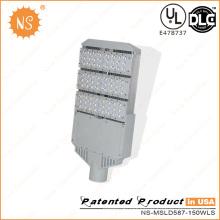 UL Dlc 110lm / W luces al aire libre del poste de la calle de 150W LED