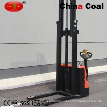 1ton Mini Full Electric Battery Forklift Pallet Reach Stacker Jack
