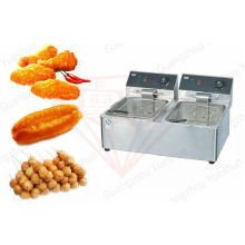 8l + 8l Commercial Deep Fryer For Western Kitchen Equipment