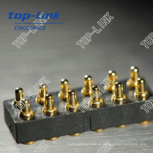 12 pinos SMT de dupla fileira carregada com mola Conector Pogo Pin