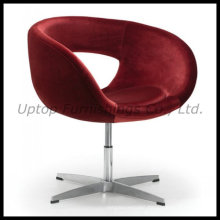 4 Star Base Upholstery Velet Fabric Easy Chair (SP-HC092)