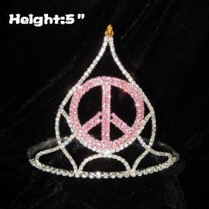 Venta al por mayor Peach God Crystal Crowns and Tiaras
