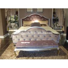 Королевский неоклассический кровать и ночной стол BD8012