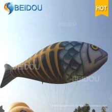 Modelos gigantes de la reproducción de la publicidad del producto de los pescados de vuelo inflables