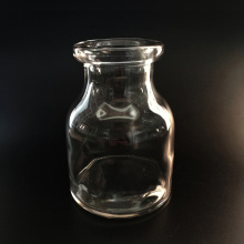 Clear Glass Vase Handmade Vase Milk Bottle