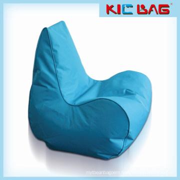Outdoor waterproof bule bean bag chair for adults