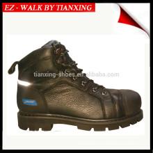 Sapatos de segurança de boa qualidade com couro genuíno e pé de aço