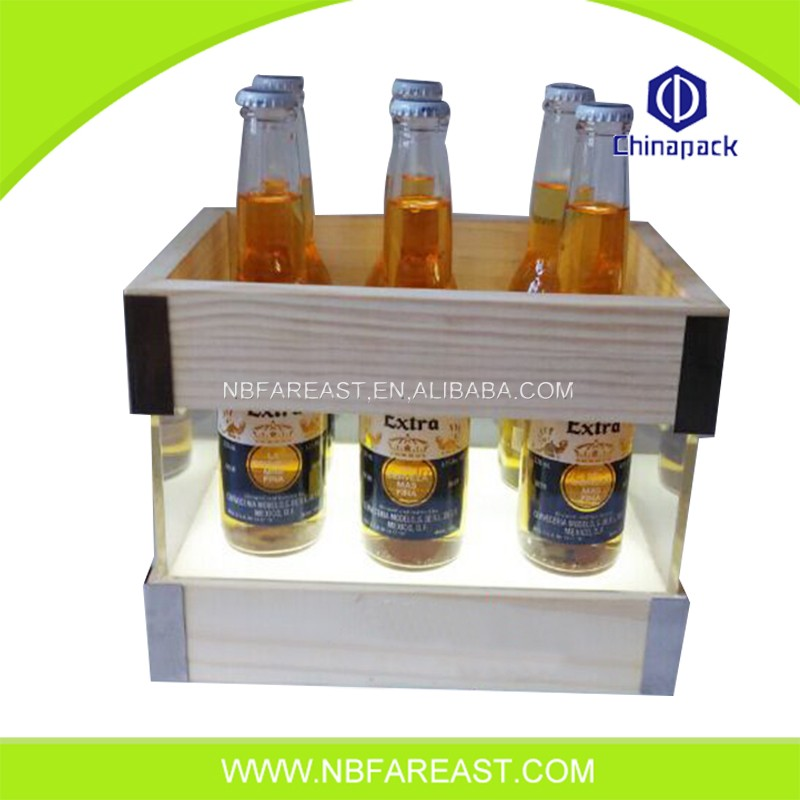 Wholesale hight quality wooden promotional ice bucket